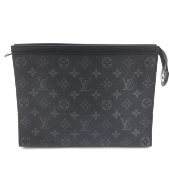 Louis Vuitton Handbags - Pochette Voyage Rare Black Monogram Eclipse Clutch